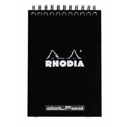 Bloc Rhodia Spirale N°13 Dot Pad Noir