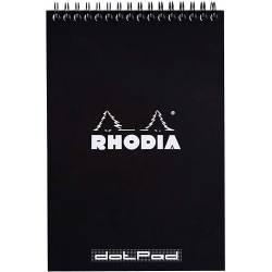 Bloc Rhodia Spirale N°16 Dot Pad Noir