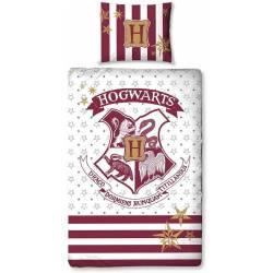 Housse de Couette Harry Potter Réversible Hogwarts 140 x 200 cm + Taie d'Oreiller 70 x 90 cm