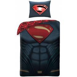 Housse de Couette Superman Réversible 140 x 200 cm + Taie d'Oreiller 70 x 90 cm