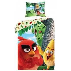 Housse de Couette Angry Birds 140 x 200 cm + Taie d'Oreiller 70 x 90 cm