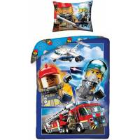 Housse de Couette Lego City Réversible 140 x 200 cm + Taie d'Oreiller 70 x 90 cm