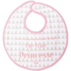Bavoir Babycalin Aimanté 0 mois + Princesse Triangle Rose - 28x27 cm