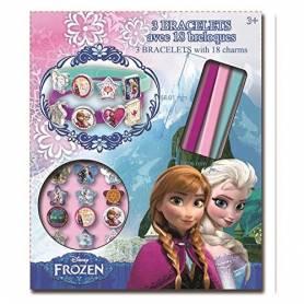 La Reine des neiges - 3 Bracelets avec 18 breloques - Elsa et Anna Frozen