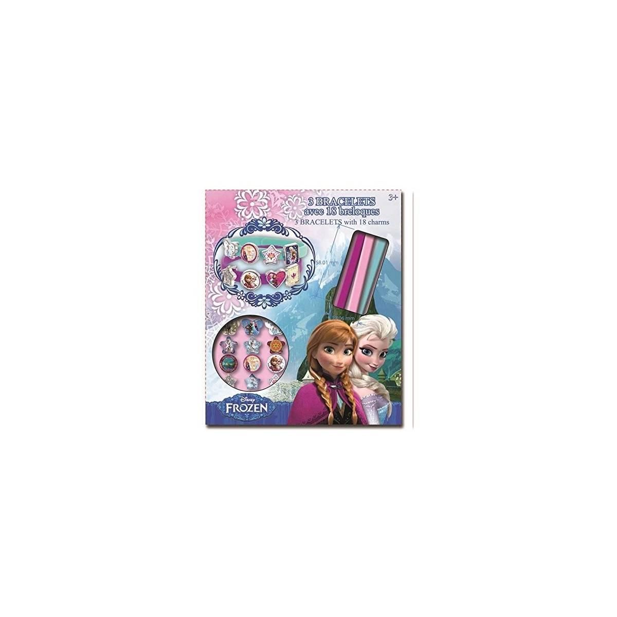 Taldec - 3 Bracelets avec 18 breloques - Reine Des Neiges - Frozen