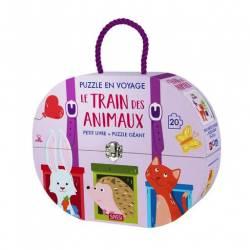 Puzzle en Voyage Sassi Le Train des Animaux