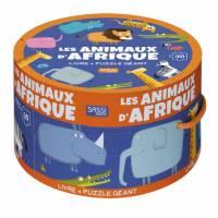 Livre et Puzzle Géant Sassi Les Animaux d'Afrique