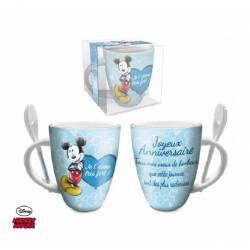 Mug Céramique Mickey Mouse Cadeau - Joyeux Anniversaire