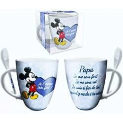 Mug Céramique Mickey Mouse Cadeau - Papa