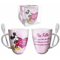 Mug Céramique Mickey Mouse Cadeau - Ma Fille