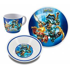 SKYLANDERS - Set dejeuner - 3 pieces - ceramique
