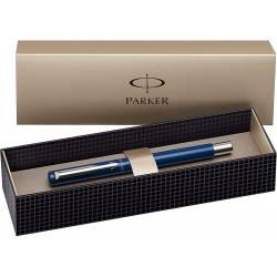 Parker Vector Spécial Stylo plume Pointe Moyenne Attributs Chromés Bleu