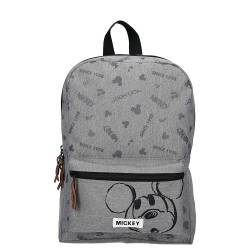 Sac à Dos Mickey Mouse Repeat After Me Gris - 33 cm