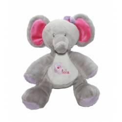 Peluche Éléphant Lola Rose 20 cm