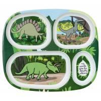 Plateau Repas à Compartiments Dinosaures