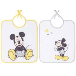Babycalin - Lot de 2 bavoirs 28x32 cm - Mickey