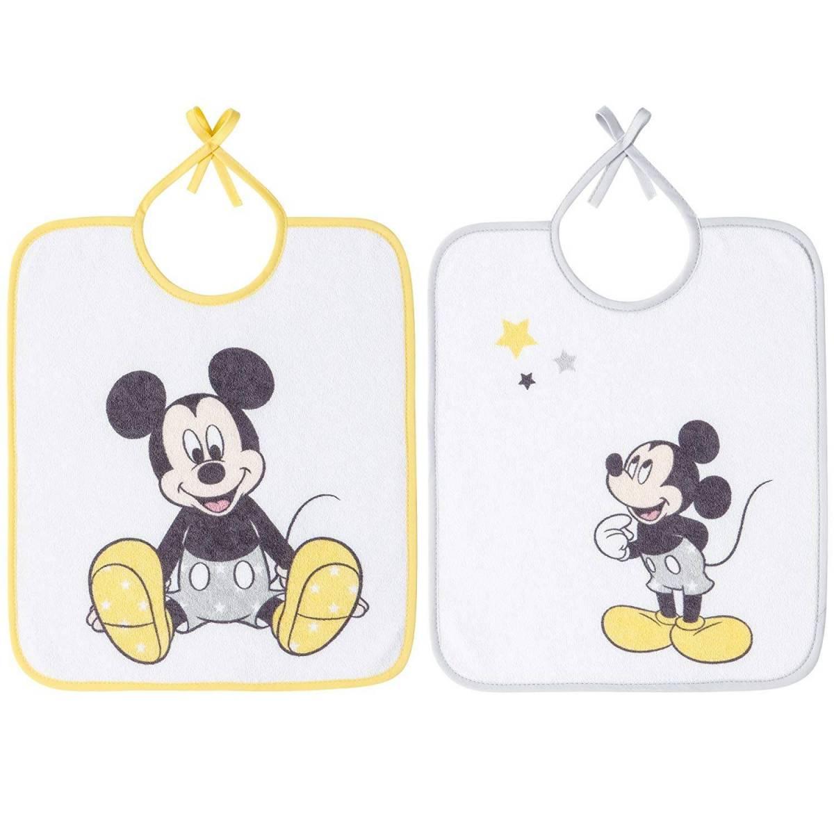 Bavoir maternelle Mickey Babycalin