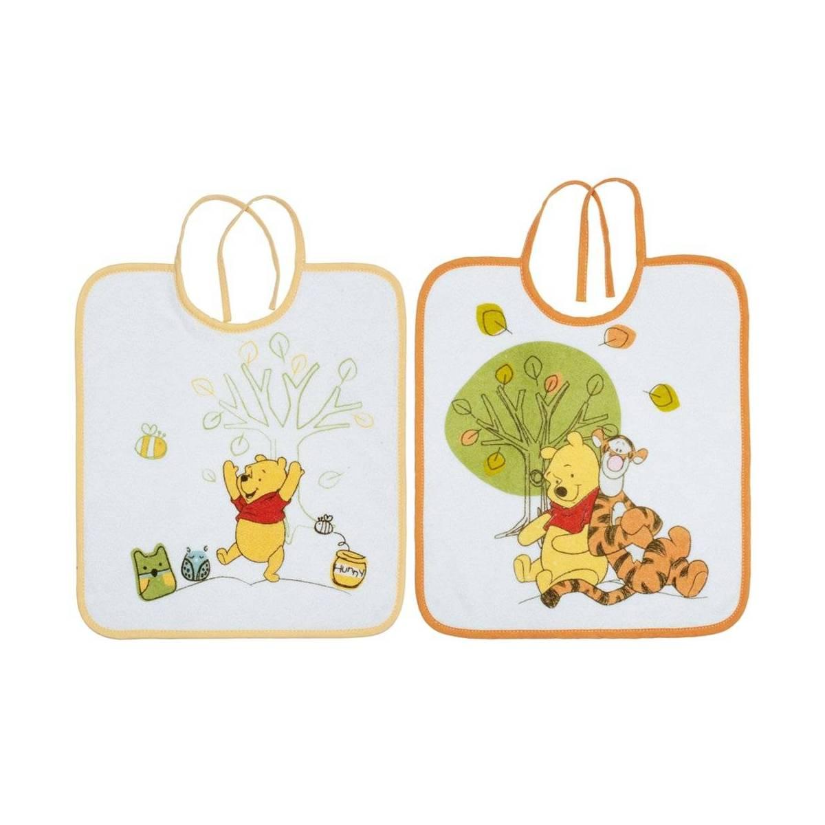 Babycalin - Lot de 2 bavoirs 28x32 cm - Winnie Doodle Craft