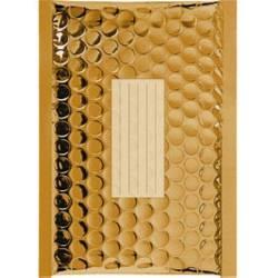 100 Enveloppes à Bulles Métalisées - 210X150 mm - C/0 - Qualité Premium (Gold)