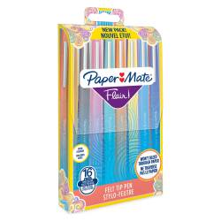 Stylo- Feutres Paper Mate Flair x16 - Pointe Moyenne 0.7 mm