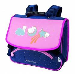Cartable 38 cm Chaton Lune