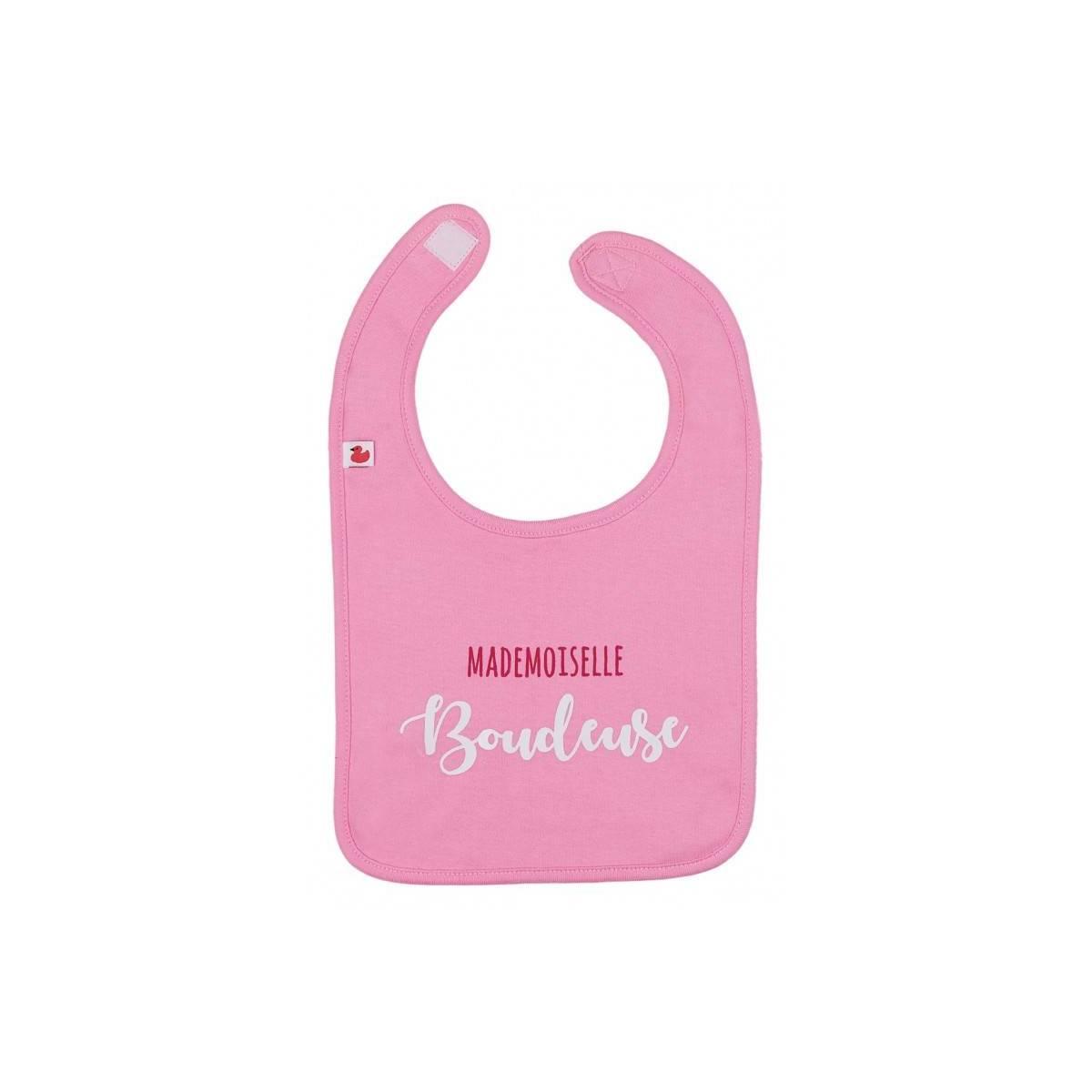 "Bavoir ""Mademoiselle boudeuse"" Rose Bonbon BB&Co"