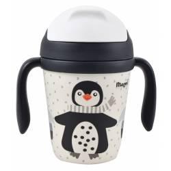 Tasse Bambou avec Paille Pingouin