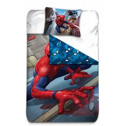 Housse de Couette Réversible Spiderman 140 x 200 cm + Taie d'Oreiller 63 x 63 cm