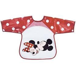 Bavoir Tablier Mickey et Minnie Rouge