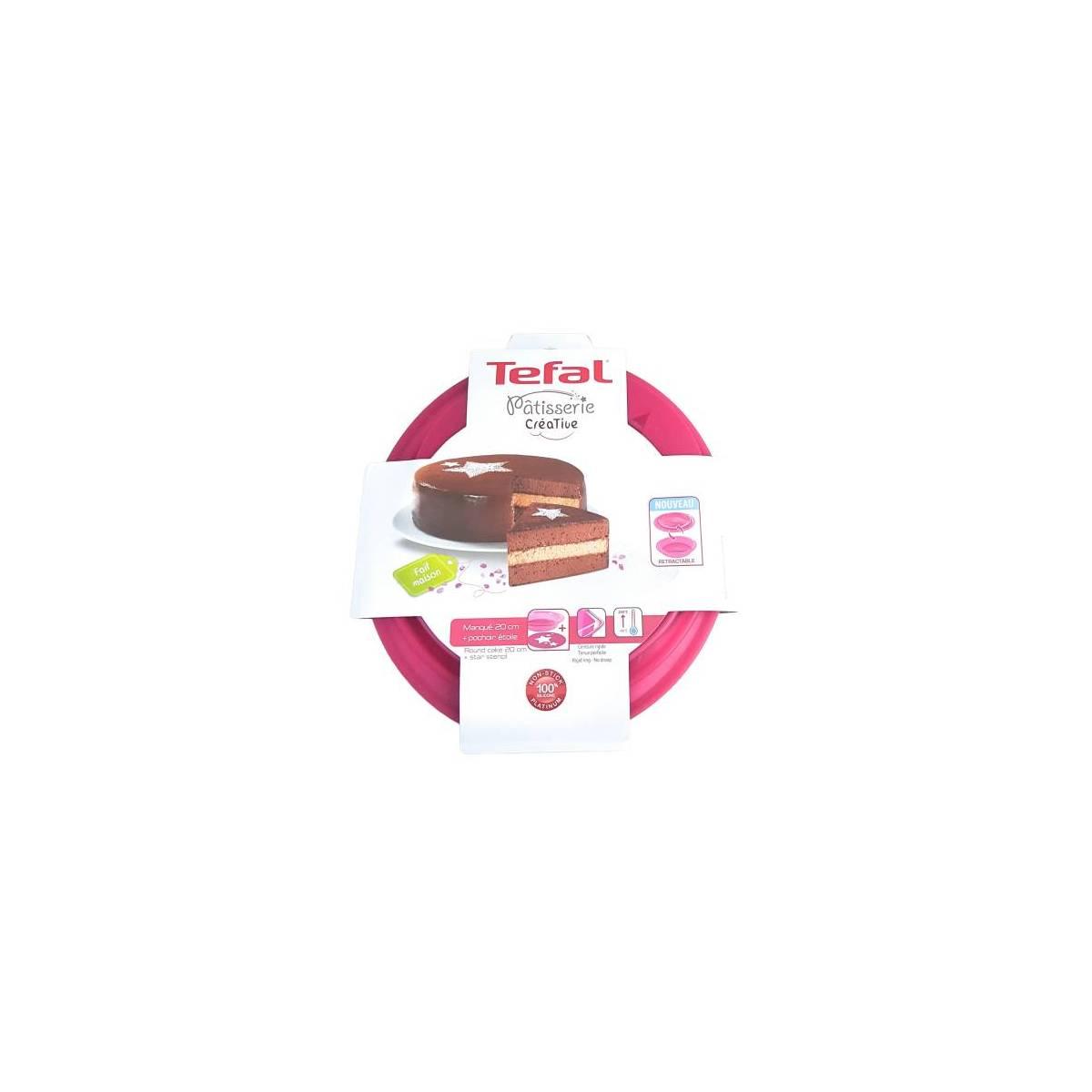 Tefal - Pâtisserie Créative - Moule à Manqué 20 cm + Pochoir Etoile