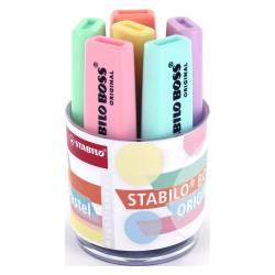 STABILO BOSS ORIGINAL - Pot de 6 Surligneurs - Pastel