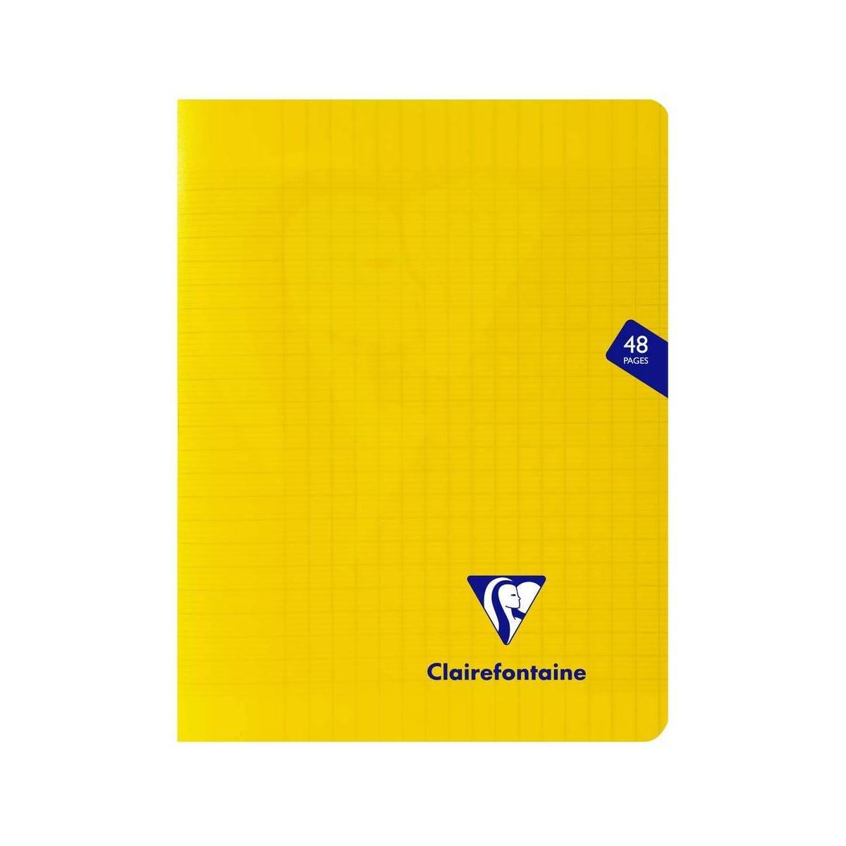Clairefontaine - Cahier Mimesys Piqué Polypro Transparent - Grands Carreaux - 48 Pages - 17 x 22 cm