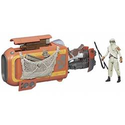 Star Wars : The Force Awakens - Speeder de Rey - Véhicule + Figurine 9 cm