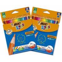 36 Crayons de Couleur BIC Kids Evolution ECOlutions
