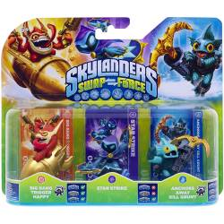 Figurine Skylanders : Swap Force - Star Strike + Anchors Away Gill Grunt + Big Bang Trigger Happy