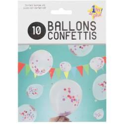 Ballon Confettis x10