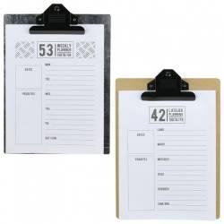 Clipboard Bloc Notes Bistrot + 52 Pages Détachables