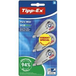 Tipp-Ex Pure Mini ECOlutions Rubans Correcteurs - 6 m x 5 mm, Format Spécial de 3