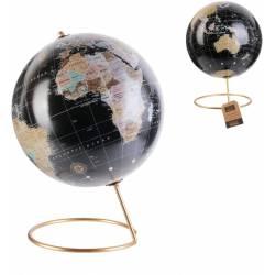Globo terrestre decorativo con piedino in metallo