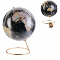 Globe Terrestre Décoratif avec Pied en Métal