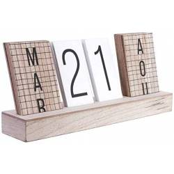 Calendario perpetuo in legno - The Home Deco