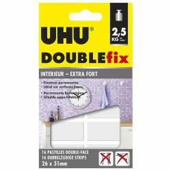 UHU Doulbefix - 16 Pastilles Double-Face 26 x 31 mm