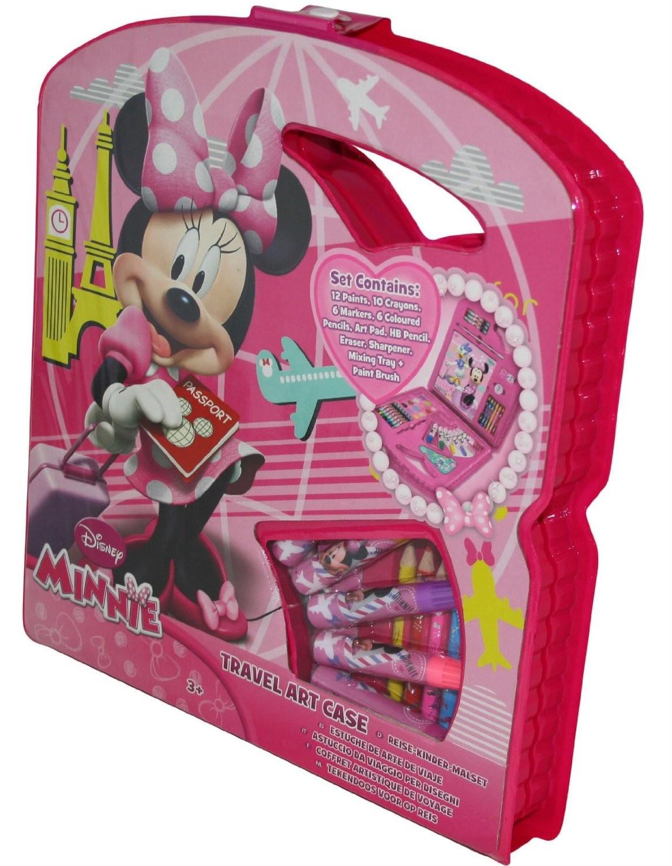 Coffret Artistique Voyage Malette De Coloriage Minnie Mouse