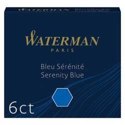 6 Cartouches d'encre Waterman pour stylo à plume Standard
