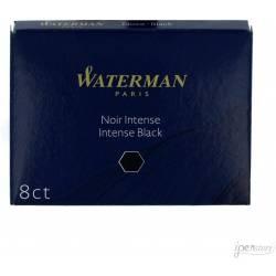 8 Cartouches d'encre Waterman Noire Longue