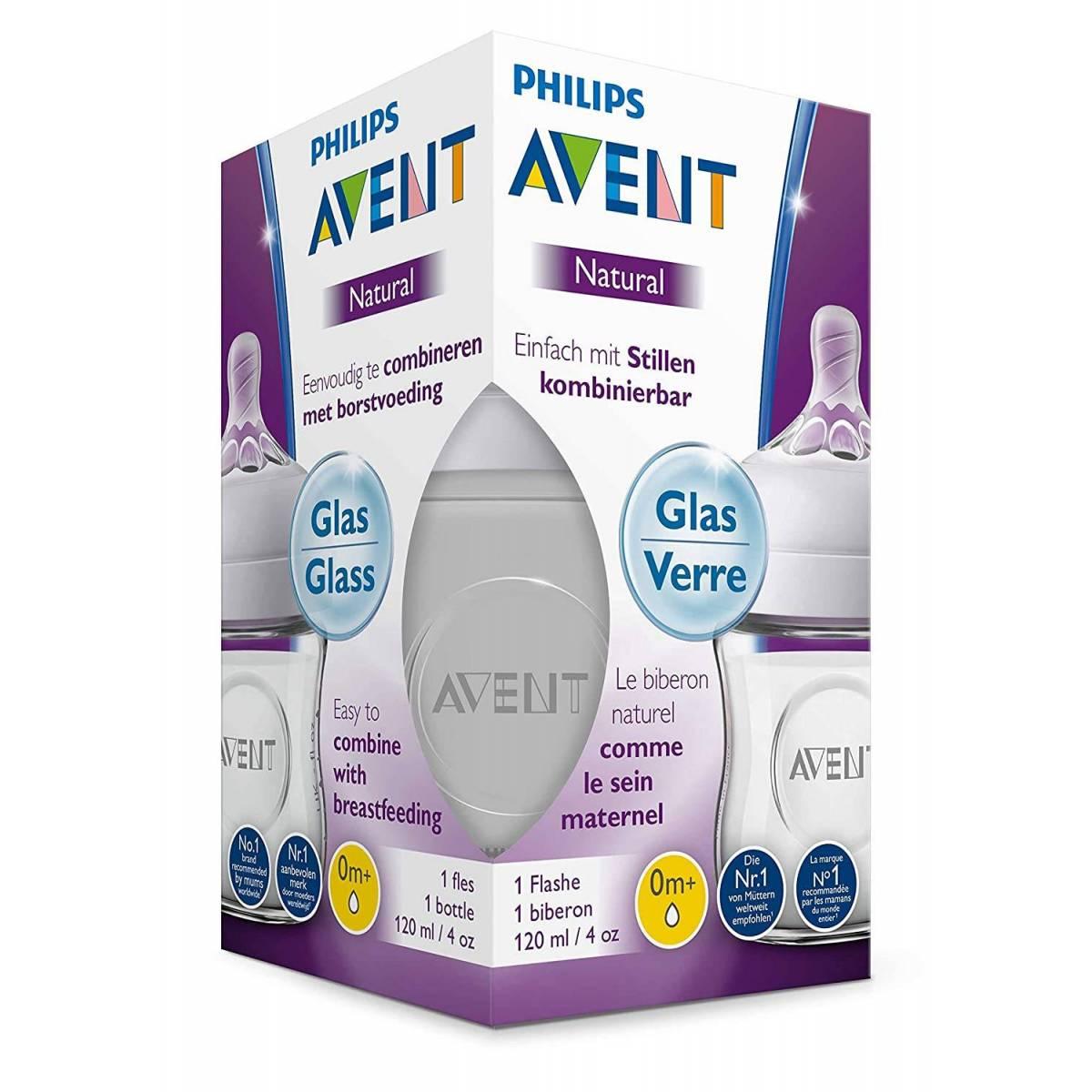 Philips AVENT Biberon Natural verre 120ml