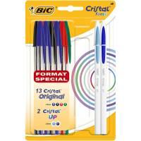 13 stylos bille Cristal original + 2 stylos cristal like me - BIC