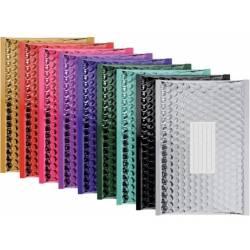 100 enveloppes à bulles Métallisées - Qualité Premium - Couleurs Assorties - 1emballages.com (330 X 220 mm - F/3)
