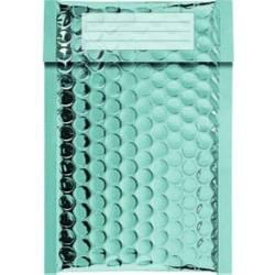 100 Enveloppes Bulles Métalisées PRO- 21 x 12 cm -B/00 - Qualité Premium - Petits Objets (Turquoise)