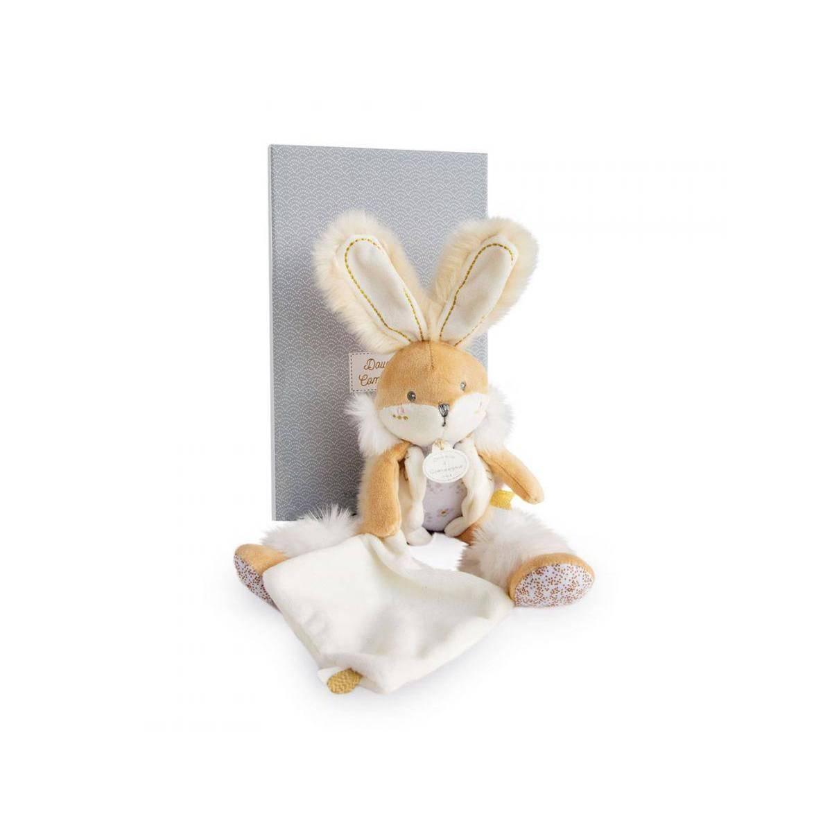 Doudou et Compagnie-Doudou Pantin Blanc-Lapin De Sucre 31.cm